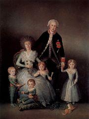 Retrato de familia, por Goya.